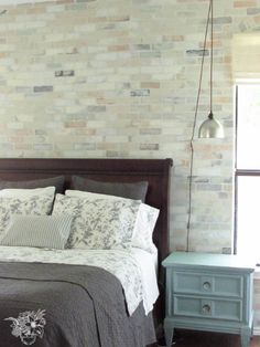 Brick Stenciled Feat