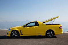 The Holden Maloo is part car and part truck, like the classic El Camino. A massive engine also means it's viciously fast. Australian Muscle Cars, Aussie Muscle Cars, Holden Maloo, Classic Trucks, Classic Cars, Holden Australia, Pickup Car, Holden Commodore, Dodge Challenger Srt