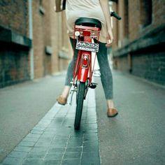 Bike behind