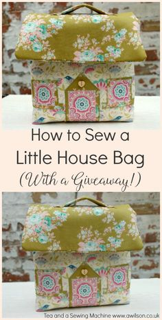 Find out how to sew this cute little house bag! There's an easy to follow tutorial with plenty of step pictures, and the chance to win a kit to make the bag. Tea and a Sewing Machine www.awilson.co.uk #tilda #sewing