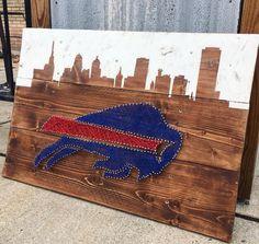 Buffalo Bills String Art by TheWoodenNickelArt on Etsy