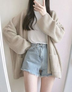 - k-fashion - Etsy Korean Girl Fashion, Korean Fashion Trends, Korean Street Fashion, Ulzzang Fashion, Korea Fashion, Fashion Guide, Ulzzang Style, Korean Fashion Summer, India Fashion