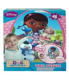Petite players put together a large-than-life Doc McStuffins scene with this wall puzzle. Featuring 46 perfectly sized pieces that fit little hands, it's an engaging rainy-day activity that also develops fine motor skills.