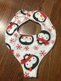 Binkie Bib - Penguins by BreesBabies on Etsy https://www.etsy.com/listing/271255421/binkie-bib-penguins
