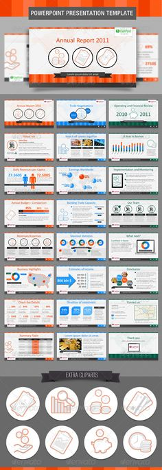 Financial Report FullHD PowerPoint Template - GraphicRiver Item for Sale