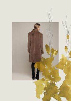 decadediary:    This weeks collage,  a new coat + gladioli  photo via la garconne  Blog Post:For Your Back Pocket«Illustration byDecade Diary