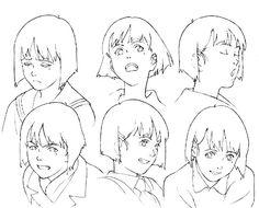 "Character-design by Satoshi Kon & Takeshi Honda for ""Millennium Actress"" movie Character Sheet, Character Concept, Character Art, Concept Art, Female Character Design, Character Design References, Satoshi Kon, Cyberpunk Art, You Draw"