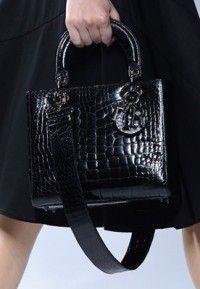 Dior Black Crocodile Lady Dior Medium Bag - Cruise 2014  #dior #handbags
