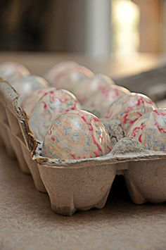 Tie-Dyed Eggs. Dyed using a Silk Tie