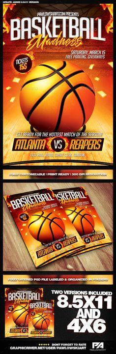 Basketball Playoffs Flyer Psd  Basketball Playoffs Flyer