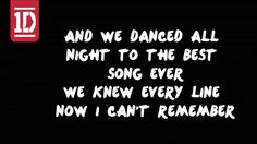 One Direction - Best Song Ever Lyrics