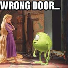 """""""She's out of our hair!"""" ;)  Hehe. This is even better than the """"Tangled+Narnia"""" pin."""
