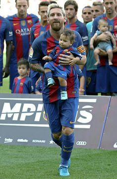 Messi and his carbon copy Mateo