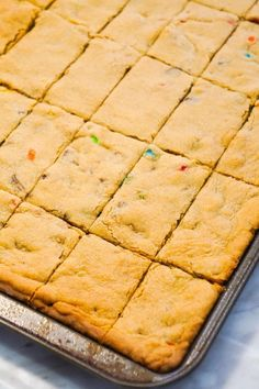 Peanut Butter Cookie Bars are an easy dessert recipe