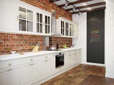 """Результат пошуку зображень за запитом """"белая кухня вдоль стены"""""""