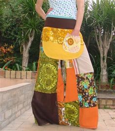 patchwork skirt. Want this one too.