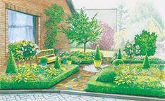 Vorgarten in Beete teilen