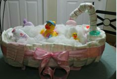 Bubble bath diaper cake
