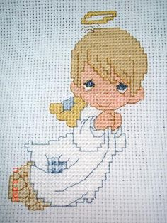 best of both .. Precious Moments and Cross stitched :o)
