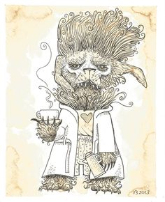 Coffee Monster Wolf by vonnbriggs.deviantart.com on @deviantART