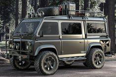 Landrover Defender, Defender 110, Land Rover Defender Camping, Kombi Home, Offroader, Grey Vans, Cab Over, Expedition Vehicle, Custom Vans
