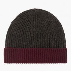 Mützen | Kaschmir-Mütze im Two-Tone-Look | Größe: onesize | Material: 10% Kaschmir, 90% Wolle | Farbe: anthrazit | Art.nr.: 72107603-19