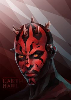 Darth Maul Low-poly Vector – PrintScn