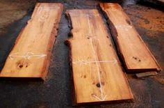 Rustic wood counter-top wood.