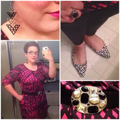 #DYTType4 #ootd. Dress through #GwynnieBee from designer #Triste. Feeling strong in this outfit. My #Secondary3 loves all the angles & texture of this outfit. Belt from Lane Bryant about 9 years back. Shoes from #JustFab. #5DollarBling from #paparazziaccessories (link in profile). #type4bold #dyt #dressingyourtruth #MomFashion #instafashion #wiw #wiwn #wiwt