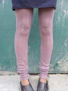 Tights / Leggings Extra Long Soft Merino Wool. $49.00, via Etsy.