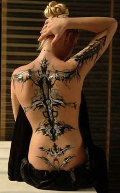 Biomechanical Tattoos.....!!!!!!!!!!!!! It's Luis Royo design into tattoo form!!!!! OMG I've always wanted this(!!!) but didn't think it could be done!!!!!!!!!