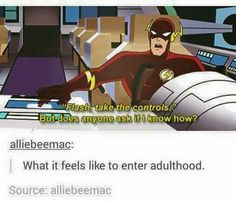 Best funny jokes for adults humor hilarious kids Ideas Memes Humor, Dc Memes, Funny Memes, Funny Gifs, Videos Funny, Dc Animated Series, Marvel, The Villain, Tumblr Funny