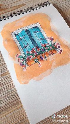 Watercolor Art Lessons, Watercolor Sketchbook, Easy Watercolor, Watercolor Drawing, Watercolor Techniques, Watercolor Landscape, Watercolor Illustration, Watercolor Flowers, Watercolor Paintings