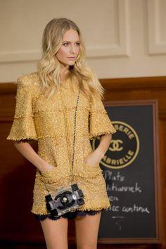 Golden girl Poppy Delevingne backstage at Chanel