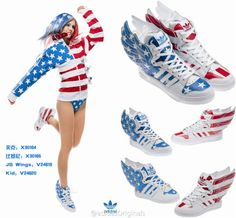 the best attitude 931e0 fb186 Adidas Jeremy Scott Wings 2.0 Air Force Flag Glow in the Dark Wholesale Jeremy  Scott Shoes