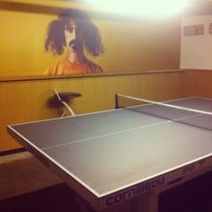 Outdoor Table Tennis Set available in San Diego at Olhausen Gamerooms and Outdoors....This is Gossima, Ping pong Bar in Paris