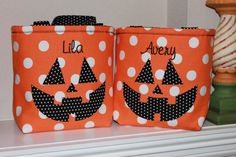 Personalized Halloween Trick Or Treat Bag Pumpkin