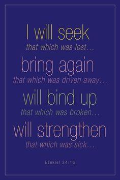 ♥† EZEKIEL 34:16