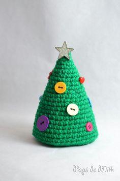 Crochet Christmas Treet With Buttons - Pops de Milk