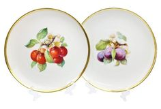 Fruit Scene Plates, S/6