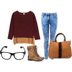 """""""casual time"""" by dyandraajeng on Polyvore"""