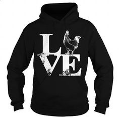 Love Chickens - #pink hoodies #cute hoodies. GET YOURS => https://www.sunfrog.com/LifeStyle/Love-Chickens-Black-Hoodie.html?60505