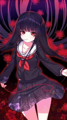 Hell Girl by on DeviantArt Pretty Anime Girl, Kawaii Anime Girl, Anime Art Girl, Manga Girl, Anime Oc, Dark Anime, Enma Ai, Art Manga, Hell Girl