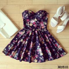 Multicolor Floral Bustier Dress – Sassitude I WANT THIS SO BAD, BUT THEY ARE SOLD OUT. OMG SO IN LOVE