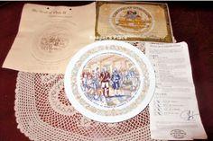 Vintage D'Arceau Limoges CITY TAVERN MEETING Plate #3 In Lafayette Legacy Series #DArceauLimoges