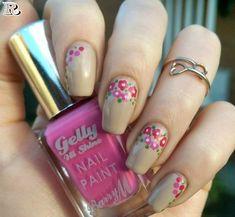 Flowers Nail Art New Idea for Spring 2018 - Reny styles Plaid Nail Designs, Orange Nail Designs, Gel Nail Art Designs, Flower Nail Designs, Pretty Nail Designs, Teal Acrylic Nails, Silver Nail Art, Pink Nails, Plaid Nails