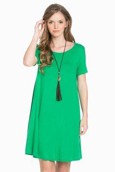 The Green A-Line Dress