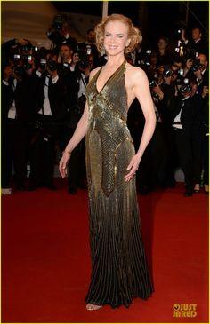 Nicole Kidman wearing a Ralph Lauren Collection black chiffon beaded evening dress with Boucheron jewels