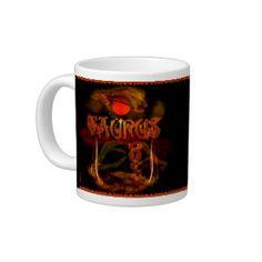 Valxart Gothic Taurus zodiac astrology Jumbo Mug Astrology Taurus, Custom Mugs, Zodiac, Tea Cups, Gothic, Coffee Mugs, Tableware, Goth, Dinnerware
