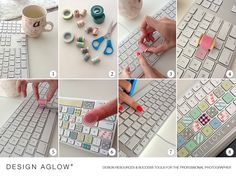Washi Tape Keyboard Tutorial by Design Aglow, SO easy and fun! #washitape #keyboard #designaglow